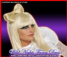 FANCY DRESS ~ OFFICIAL LADY GAGA BLONDE BOW HAIR CLIP